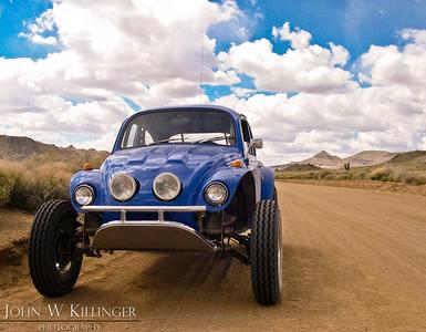 Blue Baja Bug